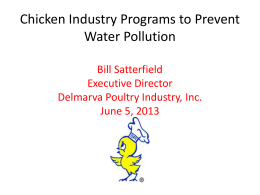 Chicken Industry Programs to Improve Water Quality