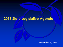 Discussion 2015 Legislative Priorities
