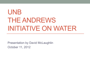 David McLaughlin`s presentation Water World