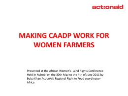 [Presentation] Making CAADP Work for Women Farmers