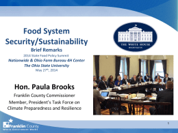 Food System Security and Sustainability