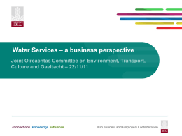 Water Services * a business perspective