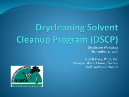 Drycleaning Solvent Cleanup Program