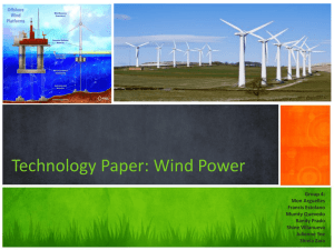 Technology Paper: Wind Power