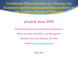 10 Environmental degradation in the Amhara Region of Ethiopia
