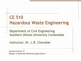 Lecture series 12 - Civil and Environmental Engineering | SIU