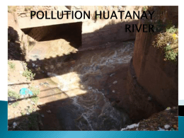 POLLUTION HUATANAY RIVER - adv9-jun-215