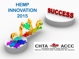 HEMP INNOVATION 2015 - Canadian Hemp Trade Alliance