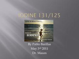 iodine 131/125 - California State University, Long Beach