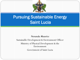 Pursuing Sustainable Energy in St. Lucia