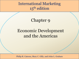 9 Marketing in a Developing Country