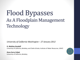 Flood bypasses - Landscape Architecture + Environmental Planning