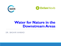 6. Water for Nature in the Downstream Areas