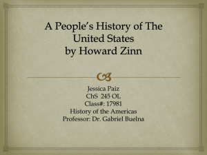 A People*s History of The United States by Howard