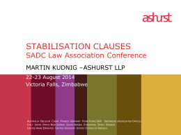 2014-08-18 STABLISATION CLAUSES