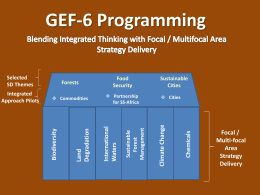 GEF-6 Programming - Global Environment Facility