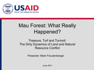 Mau Forest: What Really Happened? Presentation