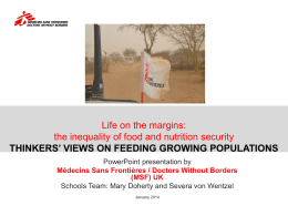 the thinkers` views on feeding growing populations