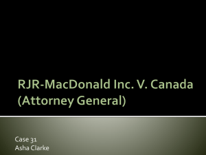 RJR-MacDonald Inc. V. Canada (Attorney General)