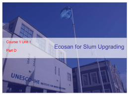 C1U1_D_Ecosan_for_Slums_Upgrading - Unesco-IHE
