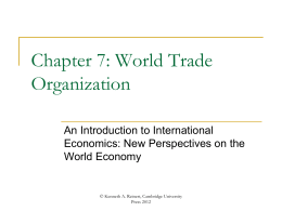 Chapter 7 - An Introduction to International Economics
