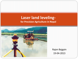Laser Land Leveling - Precision Agriculture, SOIL4213, Oklahoma