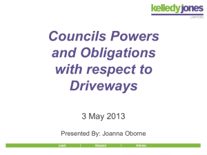 Driveways What are Council`s obligations