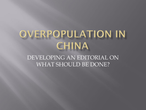 PowerPoint: Overpopulation in China