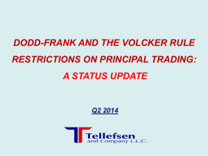 Volcker Rule Status Update