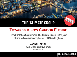Towards a Low-Carbon Future
