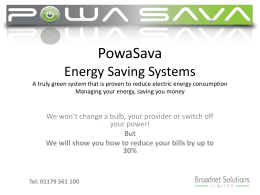 Powasava Energy Saving Systems