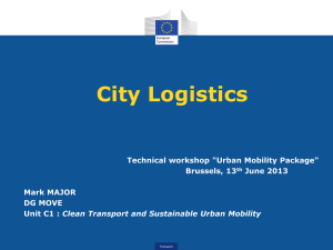 Presentation City Logistics