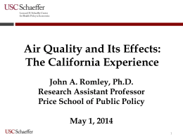 Air Quality and Health – Making the Connection – John Romley