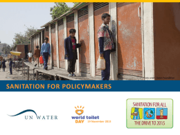 Sanitation for policymakers