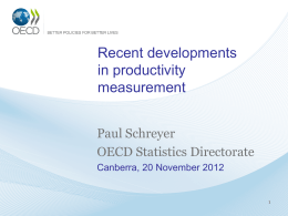 Recent Developments in Productivity Measurement