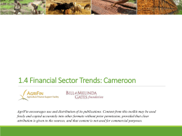 financial sector trends - Agriculture Finance Support Facility