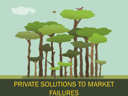 11-Private Solutions To Market Failures