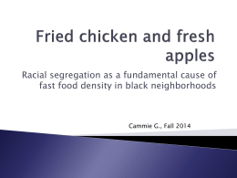Fried chicken and fresh apples presentation