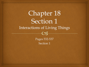 Chapter 18 Interactions of Living Things