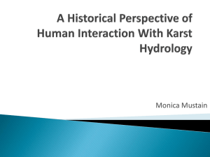 A Historical Perspective of Human Interaction With Karst