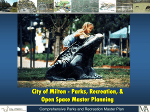 Park and Recreation Facilities Master Planning
