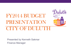 FY12 Budget Presentation - City of Duluth, Georgia