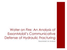 ExxonMobil*s communicative defense of hydraulic fracturing