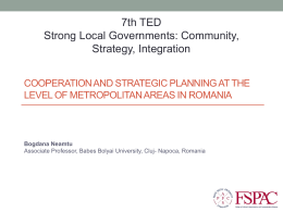 Cooperation and strategic planning at the level of