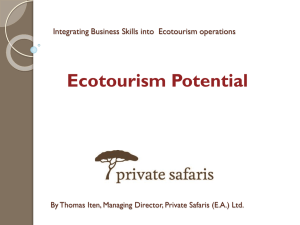 Ecotourism potential of sites