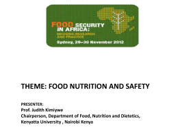 The 11 High Impact Nutrition Interventions for Kenya