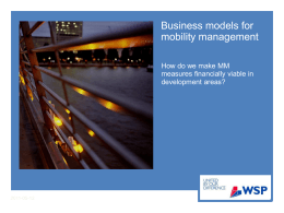Business models for mobility management