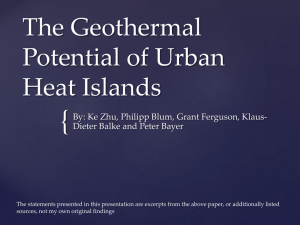The Geothermal Potential of Urban Heat Islands