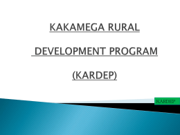 KAKAMEGA RURAL DEVELOPMENT PROGRAM (KARDEP)