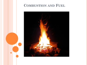 Combustion and Fuel - Integrated Science 1